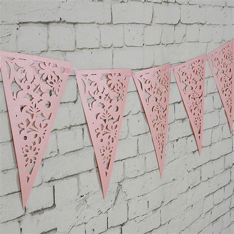 hollow triangle pattern in c 8m white lilac paper triangle hollow out wedding garland