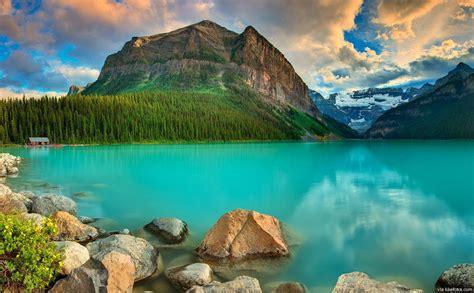Bonita America 3d beleza e tranquilidade que pode encontrar no lago louise canad 225 likefotos