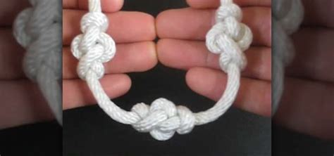String Knotting - how to tie the eternity knot to decorate a rope or string