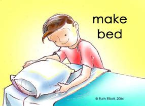 make your bed pictures of good behaviors to reinforce for kids from gomommygo