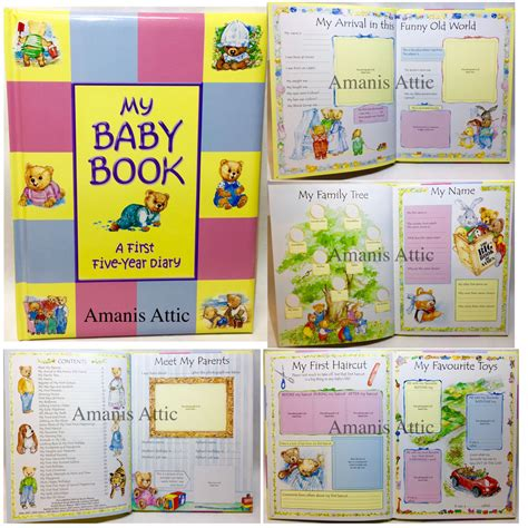 My Baby Book treasured memories my baby book five year diary record
