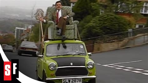 on a roof mr bean the whole bean mr bean on a car roof 1 3