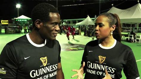 alexis nunes jamaica sportsmax interview robbie earle 2013 guinness street