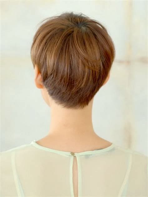 short hair cuts showing the back hairstyles for women showing the back cute short layered