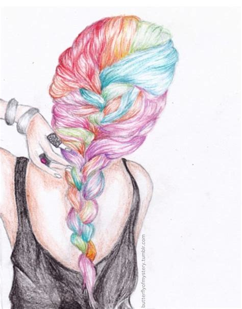 hair plats with color colors french and hair drawings on pinterest