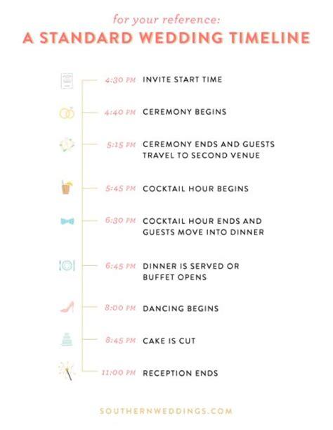 Wedding Ceremony Run Sheet by Wedding Day Timelines Weddingbee