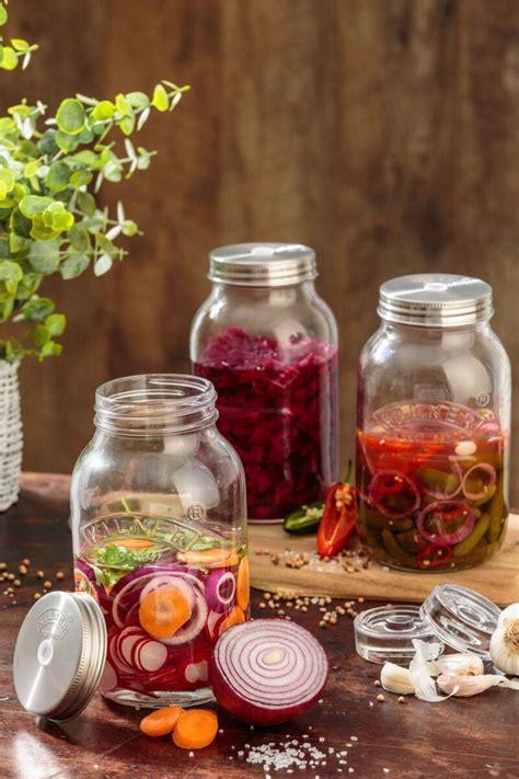 kilner  litre fermentation jars set   silver mushroom