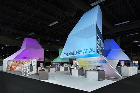 autodesk university 2015 exhibition fabric silos create impact at event