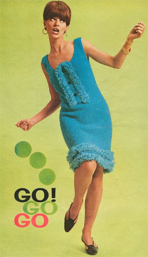 go go pdf vintage 1960s ruffled fringed go go dress knitting pattern pdf