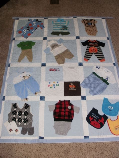 quilt pattern with baby clothes baby clothes quilt custom made for dana