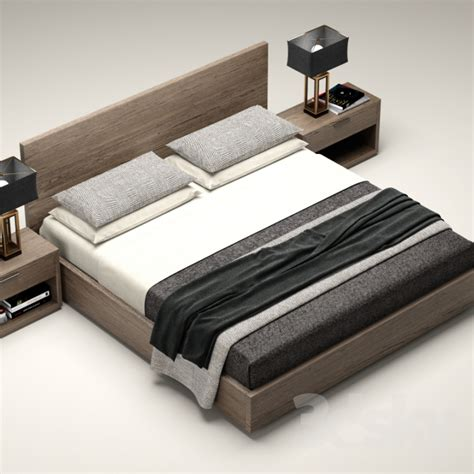 rh beds 3d models bed rh modern machinto bed