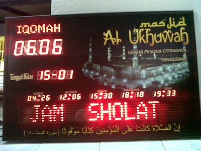 membuat jam digital sholat jual jam digital waktu sholat