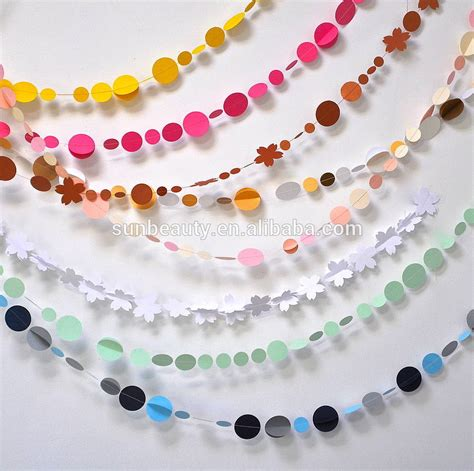 Paper Craft Wall Decorations - colorful 3 6m wall decor wall craft paper garland