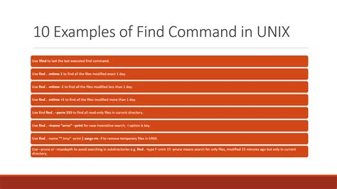 Cmd Search 10 Exle Of Find Command In Unix And Linux