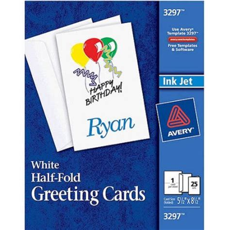 avery greeting card templates avery half fold greeting cards set of 25 walmart