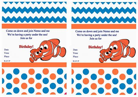 finding nemo invitations template related keywords suggestions for nemo invitations