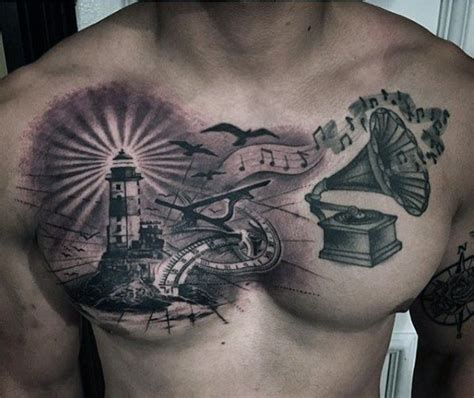lighthouse tattoo chest pictures to 100 lighthouse designs for a beacon of ideas