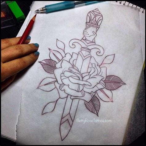 knife tattoo placement drawn dagger awesome pencil and in color drawn dagger