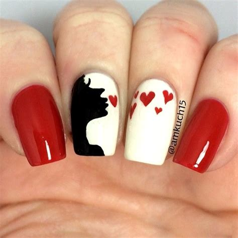 50 best valentines day nail designs pink lover