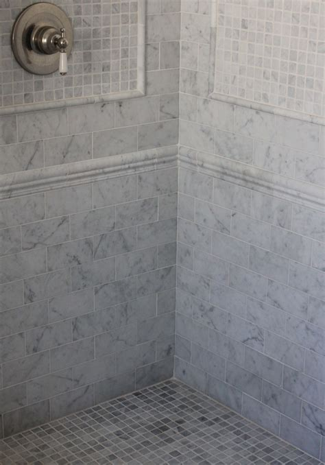 Bathroom Glass Shower Ideas Carrara Marble Trouvais