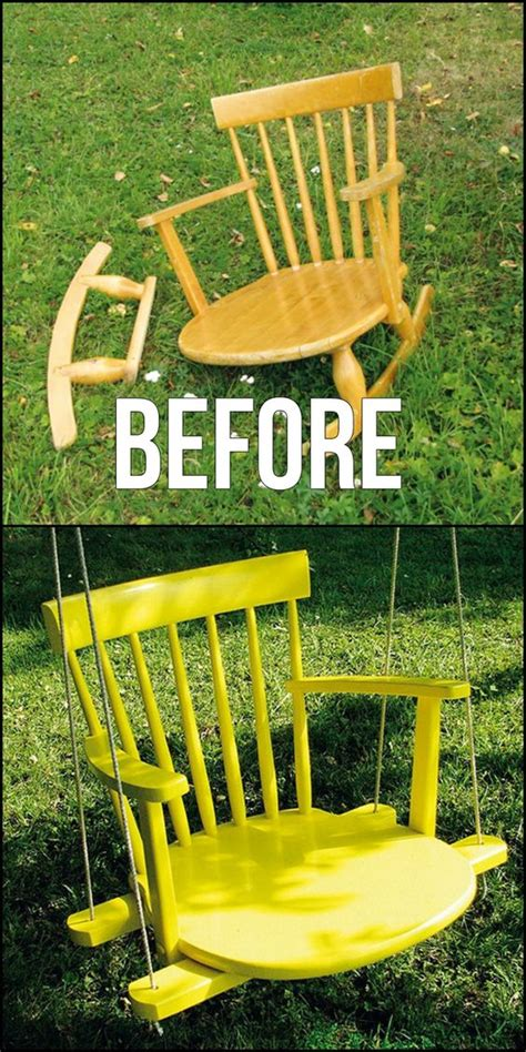 turn troline into swing how to turn an old chair into a chair swing http