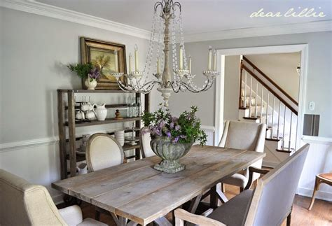 Gray Farmhouse Dining Room Dear Lillie Our Updated Dining Room With A New Farmhouse