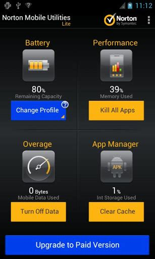 norton utilities apk norton utilities task killer v2 6 5 313 android 187 4pda info мобильная информация