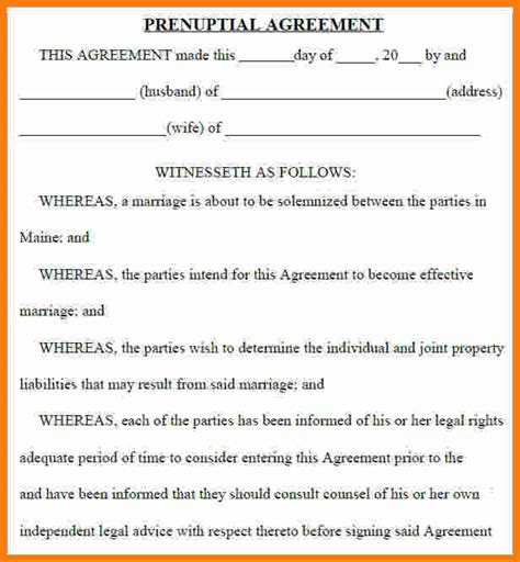 10 free printable prenuptial agreement form ledger paper
