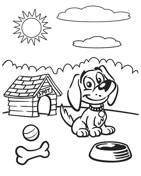 coloring page sunny day dog on a sunny day free printable coloring pages