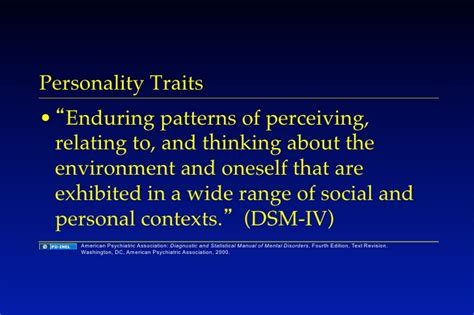 enduring pattern meaning 10 29 08 a personality and personality disorders
