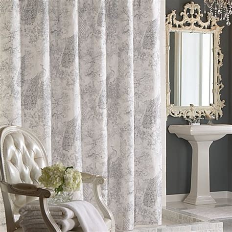 french fabric curtains french toile fabric shower curtain bed bath beyond