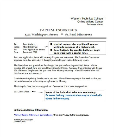 Memo Template For Email business memo format 18 free sle exle format