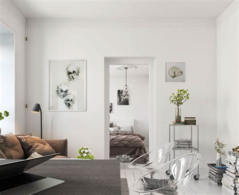 nordic decoration home bright scandinavian decor in 3 small one bedroom apartments