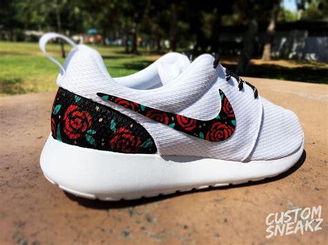 cute pattern nikes womens custom nike roshe run sneakers cute design roses
