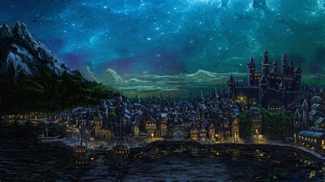 wallpaper abyss fantasy city fantasy city full hd wallpaper and background image
