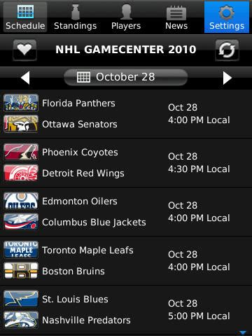 image gallery nhl app - Gamecenter For Android