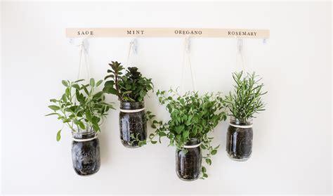 diy hanging jar herb garden the bay club
