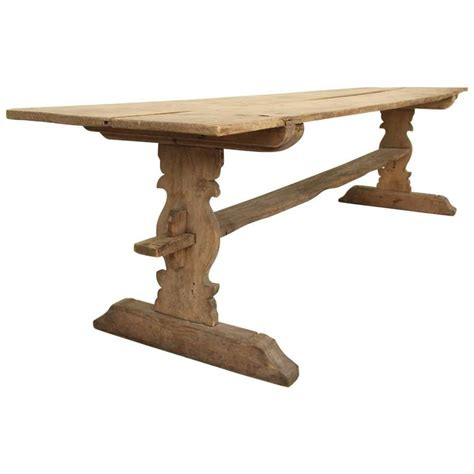 swedish gustavian refectory pine trestle dining table