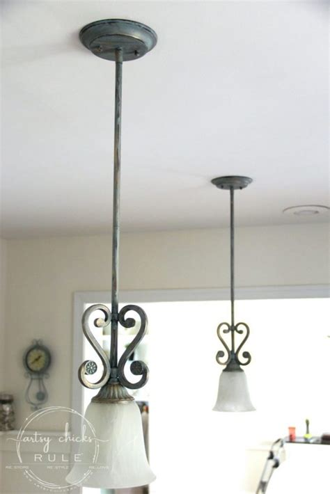 How To Paint Light Fixtures How To Paint Light Fixtures Update Without Taking Them Artsy Rule 174