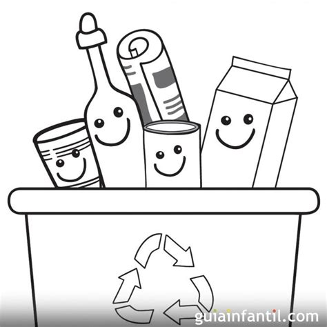 dibujos de reciclaje para colorear az dibujos para colorear dibujos infantiles para pintar y ense 241 ar a reciclar