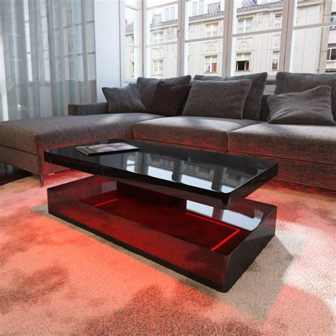black led table l black gloss coffee table writehookstudio com