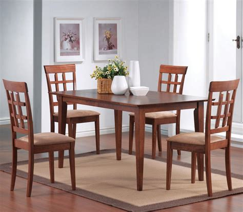 Coaster Dining Table Set Coaster Mix And Match Walnut Leg Dining Table Set