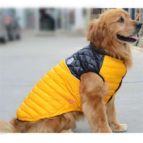 golden retriever jacket big clothes warm winter vest jacket coat clothing for