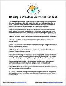 Box Craft For Kids - 10 simple weather activities for kids that require little