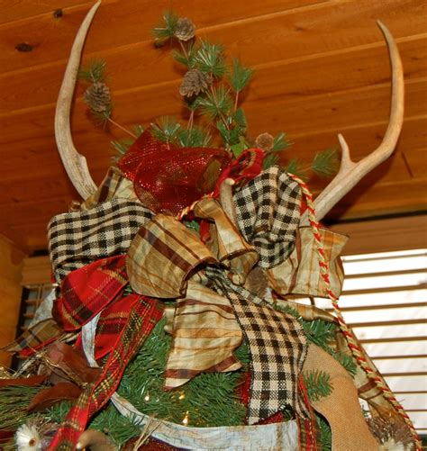 deer antler tree topper it s what the top of our tree looks like ideas trees