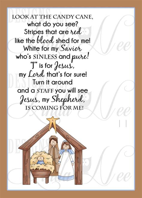 legend   candy cane nativity card  witnessing