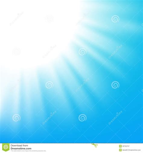 vector abstract background with sun on blue sky stock