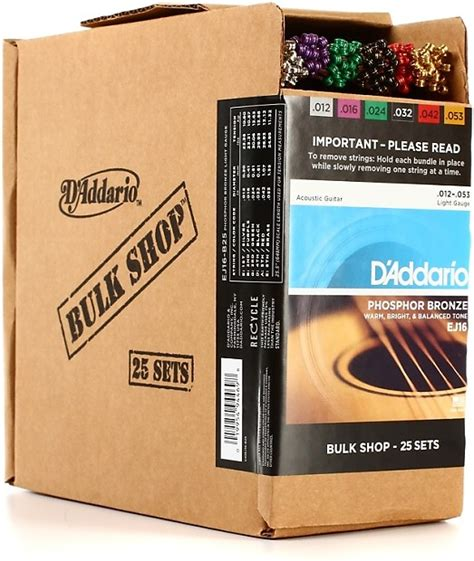 d addario ej16 phosphor bronze light acoustic guitar strings d addario ej16 phosphor bronze light acoustic strings reverb