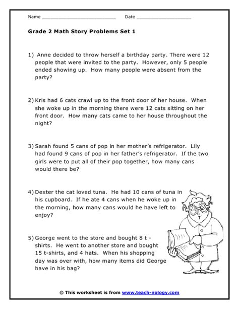 Math Word Problems Grade 2 Worksheets by Grade 2 Word Problems Set 1