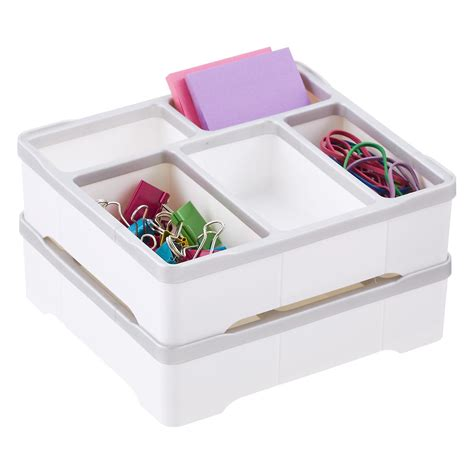 Container Store Desk Organizer 5 Compartment Square Desk Organizer The Container Store